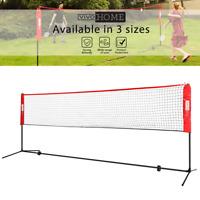 VIVOHOME 10FT-17FT Badminton Beach Volleyball Tennis Net Set w/ Stand Carry Bag