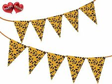 Safari Animal Leopard Spots Print Themed Bunting Banner 15 flags by PARTY DECOR