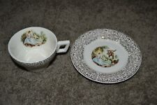 Vintage 1940's Triumph American Limoges China D'OR Cup & Saucer EXCL COND!!!