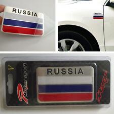 1X Decal Metal Emblem Badge Car Auto Fender Side Skirt Sticker Russian Flag