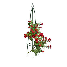 Rankgitter Rankhilfe 2 Meter Metall Obelisk Rosengitter Spalier Efeu Spitz Turm