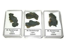 Mount Bardarbunga Iceland Volcanic lava rock slice in display case 1 per bid