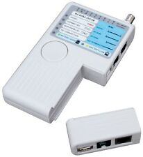 Konig Multi Cable Tester - For RJ45, RJ11, USB and Coax