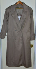 Worthington Women's Trench Coat Cotton Polyester Size 14 with Thermolite