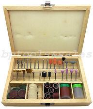 "100 Pc Rotary Tool Accessory Bits Set 1/8"" for Dremel Jeweler Gunsmith w/ Case"