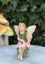 Miniature Dollhouse FAIRY GARDEN ~ Mini Pink Dancing Butterfly Sparkle Girl