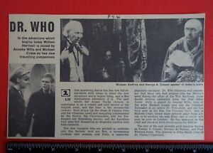 Doctor Who Radio Times, September 1966 clipping. Hartnell, The Smugglers. TARDIS