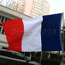 French National Tricolour Large Flag France Sport Hanging Banner Outdoor 3X5FT