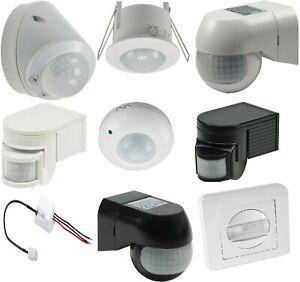 Bewegungsmelder Außen Bewegungs Melder Aufputz weiß schwarz 2- 3-Draht LED