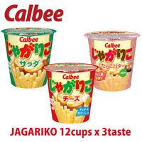 2020c Calbee JAPAN JAGARIKO SNACK Salad, Cheese, Tarako Butter 12cups x 3 (36c)