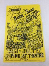 Show: Sno Bud Clevelands & Others Rock & Shop Concert Poster in Portland OR