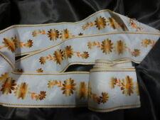 coton vintage,galon blanc,orang 3m,80 x6cm  literie ,rideaux,créations etc......