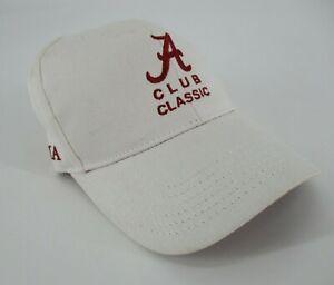 New Alabama Bama A Club Classic Baseball Hat Cap Adult Mens Adjustable White MLB