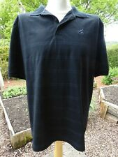 Men's Kangol Elite Collection Short Sleeved Black Striped Polo Shirt XL