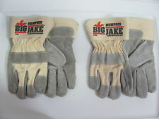 2 Pair Memphis 1700 Big Jake Leather Palm Gloves With DuPont Kevlar Size Small
