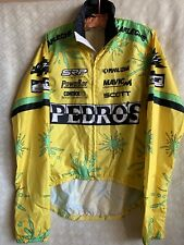 Pedro's Pearl Izumi Bicycle Racing Jersey Mens Sz M Windbreaker Tech Jacket
