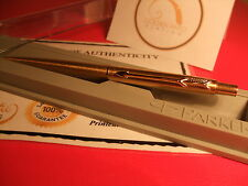24Ct Gold Plated Parker Flighter Ball Point Writing Pen Gift Boxed - Black Ink