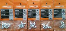 #10-32 Wing Nuts Zinc  ( 20 Pcs )