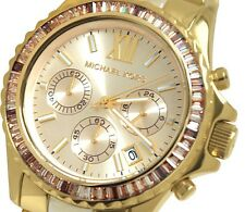 Michael Kors MK 5874 Light Champagne Dial Gold-tone and Horn Acetate  Watch