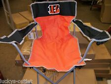 2-NFL Cincinatti Bengals Portable Folding Tailgating Lawn Chair W/ Carrying Case