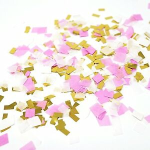 Pink White Metallic Gold Foil Shredded Confetti Paper Glitter Party Decoration