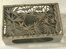 Antique Bamboo Sterling Silver Matchbox Holder If No Bids Ask For Buy It Now