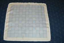 TURNBULL AND ASSER GREY AND WHITE SILK  POCKET SQUARE NEW