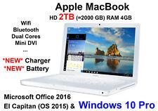 "Apple Macbook 13.3"" HD 2TB  4GB  MICROSOFT OFFICE 2016 + El Capitan + Windows 10"