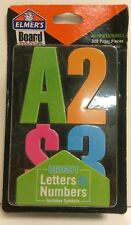 Elmer's Board Mate Bright Reusable Peel & Stick Letters Numbers, Letters & Sym