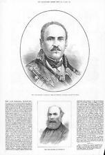 1879 Mariscal Espartero Duque de Vittoria regente de España Retrato Tweeddale (096)
