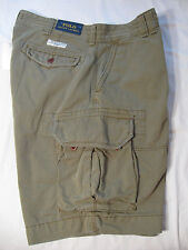 POLO Ralph Lauren Mens Cargo Shorts NWT 32 Olive Green 100% Cotton