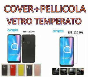 Cover Custodia  Morbida  Silicone per alcatel 1SE (2020)+Pellicola Vetro