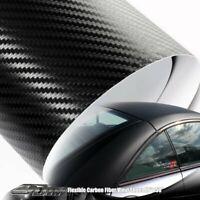 "48"" x 50"" Flexible Carbon Fiber Wrap Vinyl Film Sheet Adhesive Backing For Mazda"