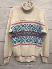 Vintage Ossi Ski Wear Women's Large Long Sleeve Winter Sweater