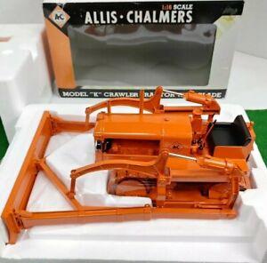 "Allis Chalmers Model ""K"" Crawler Tractor With Blade 1:16 DieCast SCT211 NIB RARE"