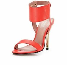 Kurt Geiger Carvela Orange Ankle Strap High Heel Sandals Size 4 EU 37 Brand New