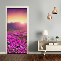 Self adhesive Door wrap removable Peel & Stick Landscapes Rhododendron mountains