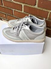 CALVIN KLEIN Mens Grey and Silver Bilton Low Sneaker Shoe (9.5US)