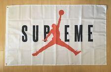 New listing Supreme x Jordan Flag 3x5 ft Banner Hypebeast Nike