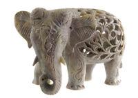 Soprammobile Elefante IN Pietra -pietra Elefante Carving - 4