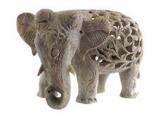 STATUE ELEPHANT EN PIERRE -STONE ELEPHANT CARVING-  4