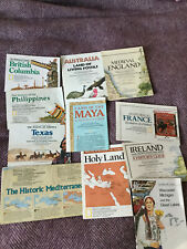 Lot of 11 National Geographic Insert/maps - Ireland - Medieval England