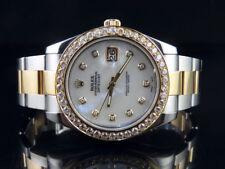 Mens Rolex Datejust II 18K/ Steel 116333 41MM Two Tone Diamond Watch 3.25 Ct
