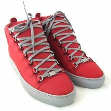 K-BG11258R New Balenciaga Ombre Mens Arena High-top Red Sneakers Size 41 US 8