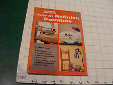 Original Fawcett #236 HOW TO REFINISH FURNITURE 1954; 144pgs MID CENTURY
