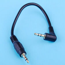Short 10cm Right Angle 3.5mm Male Jack to Male Aux Audio Jack Cable Lead