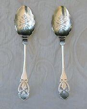 Coppia cucchiai da marmellata, Thomas Turner Sheffield c1900 Jam Spoons