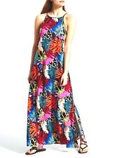 NEW 2020 papaya Size 12 Summer Tropical Maxi Dress Cool Viscose Matalan