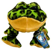 "Webkinz Bullfrog Plush SEALED CODE Green Spotted Frog Stuffed Animal Toy 10"""