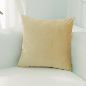 Solid Luxury Velvet Pillow Case Soft Decorative Car Sofa Cushion Cover Gift